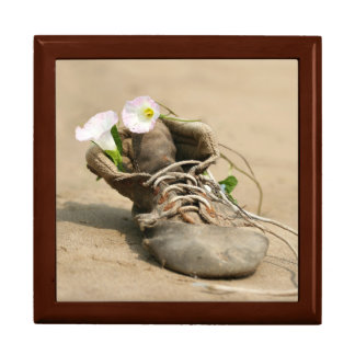 Gammalt sko morgonhärligheter minnesask