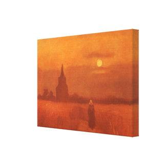 Gammalt torn i fälten av Vincent Van Gogh Canvastryck