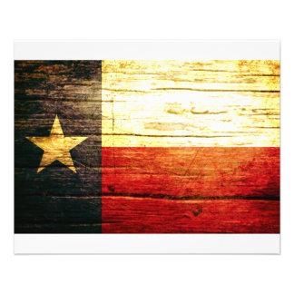 Gammalt trä för Texas flagga Flygblad