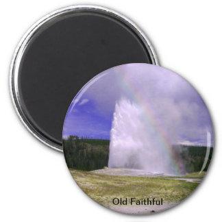 Gammalt troget i den Yellowstone nationalparken Magnet