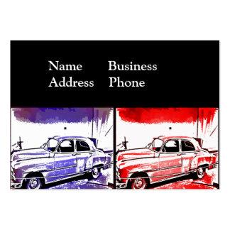 Gammalt tryck för konst för vintage set av breda visitkort