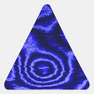 gammalt tyg, blått triangelformat klistermärke