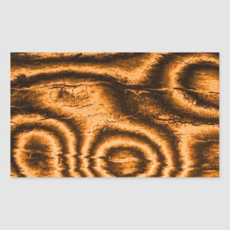 gammalt tyg, orange rektangulärt klistermärke