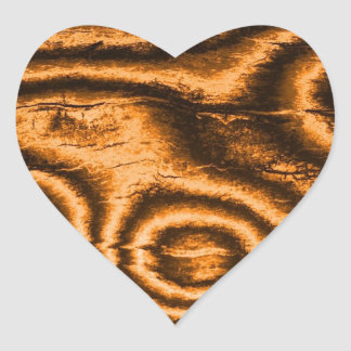 gammalt tyg, orange hjärtformat klistermärke