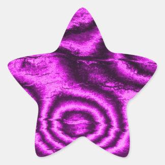 gammalt tyg, rosa stjärnformat klistermärke