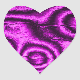 gammalt tyg, rosa hjärtformat klistermärke