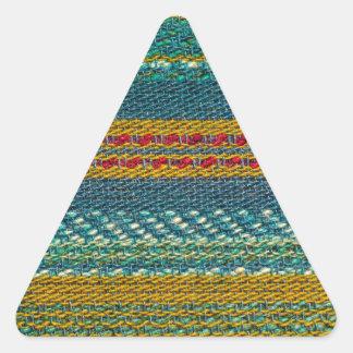 Gammalt tyg triangelformat klistermärke