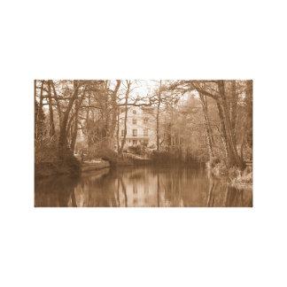Gammalt vatten mal fotokanfas canvastryck