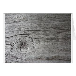 Gammalt wood mönster hälsningskort