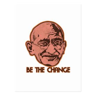 Gandhi är ändringen vykort