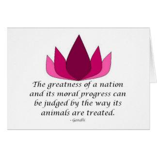Gandhi citationstecken hälsningskort