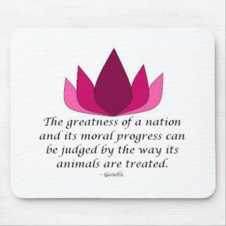 Gandhi citationstecken musmatta