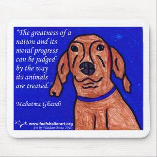 Gandhi citationstecken på djurskydd musmatta