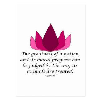 Gandhi citationstecken vykort