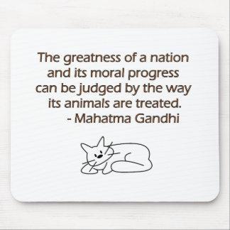 Gandhi djurcitationstecken med katten musmatta