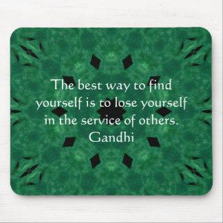 Gandhi inspirera citationstecken om själven - musmatta