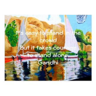 Gandhi inspirera citationsteckenQuotation om Vykort