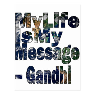 Gandhi Qoute Vykort