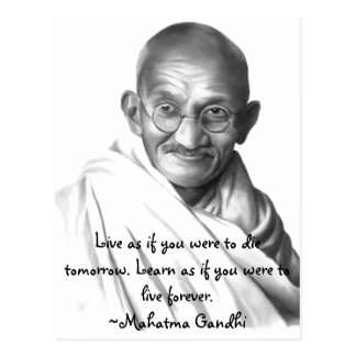 Gandhi Vykort