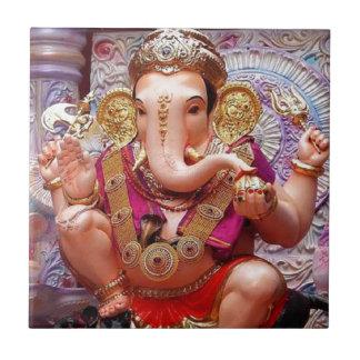 Ganesh (गणेश) - indisk elefantgudom kakelplatta