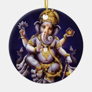 Ganesh Ganesha hinduisk Indien asiatisk Julgransprydnad Keramik