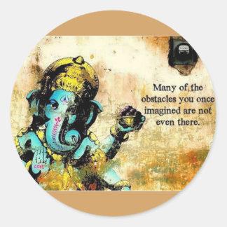 Ganesh Ganesha hinduisk Indien asiatisk Runt Klistermärke