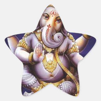 Ganesh Ganesha hinduisk Indien asiatisk Stjärnformat Klistermärke