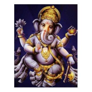 Ganesh Ganesha hinduisk Indien asiatisk Vykort