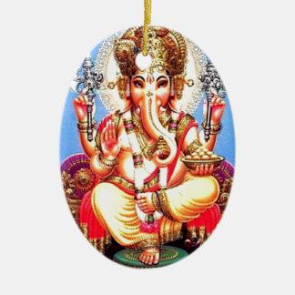 Ganesha (गणेश) indisk elefant julgransprydnad keramik