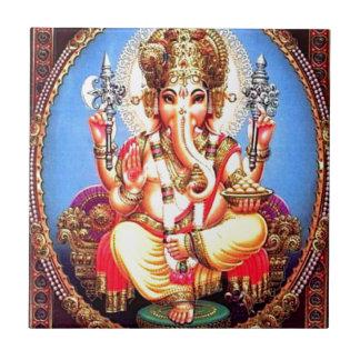 Ganesha (गणेश) indisk elefant kakelplatta