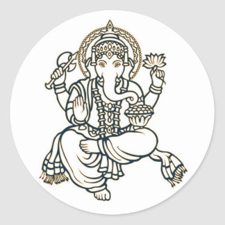 Ganesha hinduisk gudomgud runt klistermärke