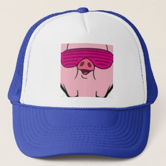 Gangsta piggy underbar tittar hatt keps