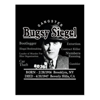 Gangster Bugsy Siegel Vykort