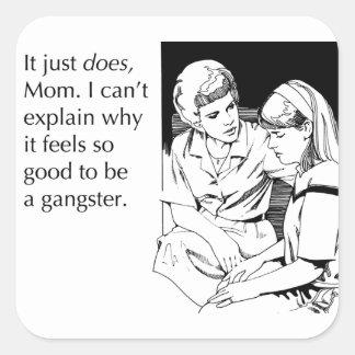 Gangster Fyrkantigt Klistermärke