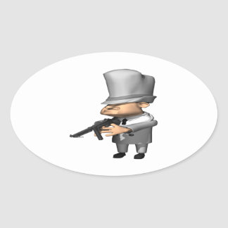Gangster Ovalt Klistermärke