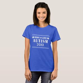 Går Autismmedvetenheten 2017 personligT-tröja Tee Shirt