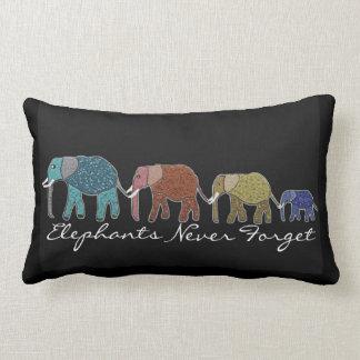 Går den afrikanska elefanten för neon lumbaren lumbarkudde
