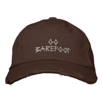 Går den barfota hatten broderad keps