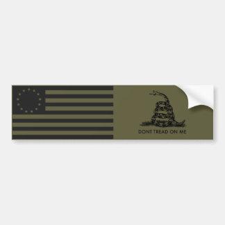 GÅR den Betsy Ross flagga 1776/INTE PÅ MIG Gadsden Bildekal