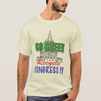 GÅR den GRÖNA återvinnakongressT-tröja T-shirt