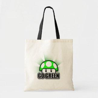 Går den gröna Eco vänliga återvinnachampinjonen Budget Tygkasse