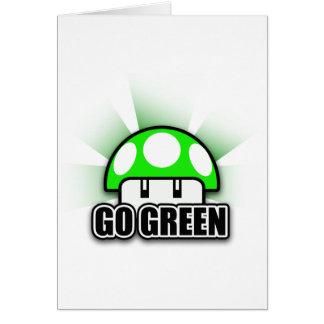 Går den gröna Eco vänliga naturchampinjonen Hälsningskort