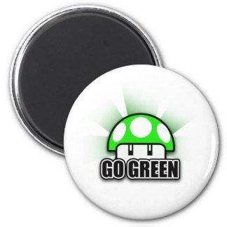 Går den gröna Eco vänliga naturchampinjonen Magnet Rund 5.7 Cm