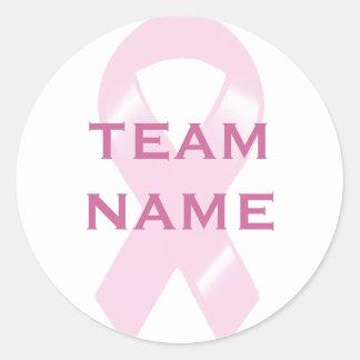 Går det rosa bandet för KRW det beställnings- Runt Klistermärke