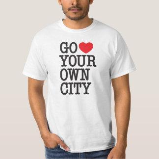 Går ♥ din egna stad tshirts