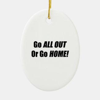 Går går alla ut eller hem julgransprydnad keramik