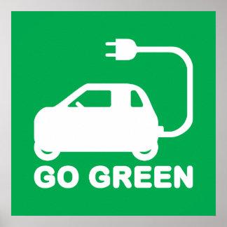 Går gröna ~-drevelbilar affischer