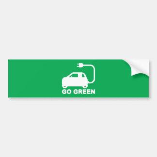 Går gröna ~-drevelbilar bildekal