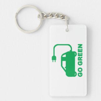 Går gröna ~-drevelbilar keychain