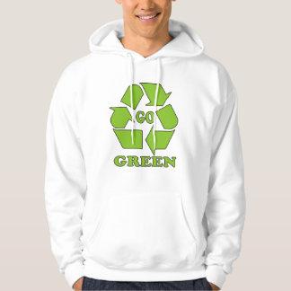 går grönt, skjortan, t-skjorta tröja med luva